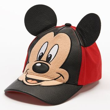 Disney's Mickey Mouse 3D Ears Baseball Cap - Toddler Boy, Size: 2T-4T (Red)