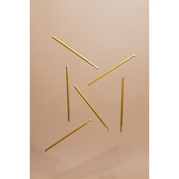 On-Point Feminist Pencil Set in Solid Gold | Smash the Patriarchy, Hustle for Justice, Work then Whiskey...