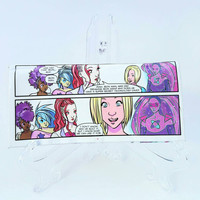 Cool Women's Wallet - Upcycled Jem and the Holograms Comic Book Wallet - Unique Women's Wallets - Geek Gifts - One of a Kind