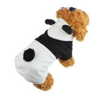 Newly Design Pet Dog Panda Costume Roupas De Cachorro Winter Coat Jacket Soft Fleece Warm Puppy Clothing Apparel Halloween