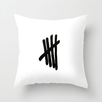 5 Seconds Of Summer Throw Pillow by Jessica Rose