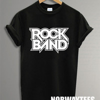 Rock Band Shirt  Printed on Black and White t-Shirt For Men Or Women Size X 03