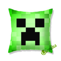 Minecraft Creeper Square Pillow Cover