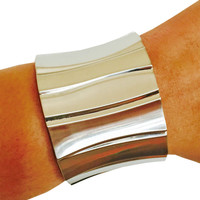 Fitbit Bracelet for Fitbit Flex Activity Trackers - The BLAIR Brushed Silver Hinge Fitbit Bracelet - FREE and Fast U.S. Shipping
