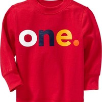 """Old Navy """"One"""" Tees For Baby Size 12-18 M - Robbie red"""
