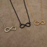 Infinity Symbol Necklaces (Silver, Black or Gold) - Fashion Simple