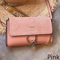 Chloe Fashion Women Shopping Leather Shoulder Bag Crossbody Satchel(7-Color) Pink I-WXZ2H