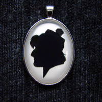 Kristoff from Frozen Silhouette Disney Cameo Pendant Necklace