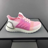 adidas Ultra Boost Pink White Toddler Kid Running Shoes Child Low Top Sneakers
