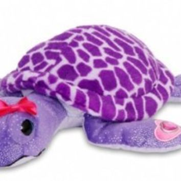 Plush Purple Turtle Stuffed Toy with Sparkles