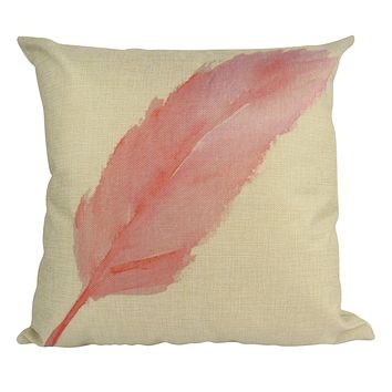 Pink | Feather | Pillow Cover | Throw Pillow | Home Decor | Pillow | Feather Decor | Pink Throw Pillows | Gift for her | Pillows