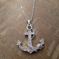 Silver Anchor and Rope Necklace   Candy's Cottage