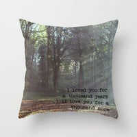 A Thousand Years Throw Pillow by Ally Coxon | Society6