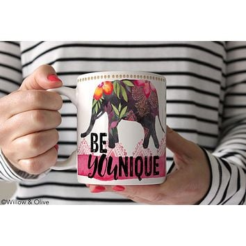 BeYOUnique - Elephant Coffee Mug - Q0001