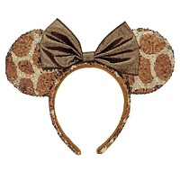 Disney Parks Animal Kingdom Giraffe Print Minnie Sequined Headband New with Tags