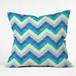 Jacqueline Maldonado Chevron Ocean Throw Pillow