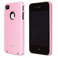 iPhone 4S Case, TORU® [Pink] Apple iPhone 4S Slim Case [Ultra Thin] [Non Slip] with + [Free Screen Protector] - Protective Slim Fit Hard Case - Verizon, AT&T, Sprint, T-Mobile, International, and Unlocked - Case for iPhone 4 / iPhone 4S - Pastel Pink (114M