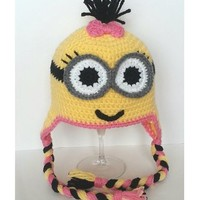Buy Home Handmade Despicable Me Toddler Baby Minion Crochet Hat (One Eyed Blue)