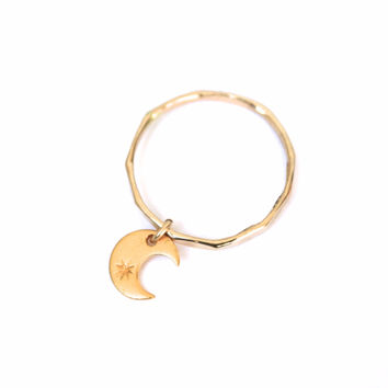 Crescent Dangle Ring