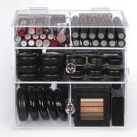 Zahra Beauty acrylic Makeup Organizer- Double Diamond. makeup drawers