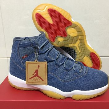 Air Jordan 11 Retro Levis NRG 914433 401 Sport Shoes