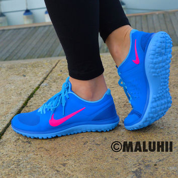 Maluhii Electric Blue Nike Running With
