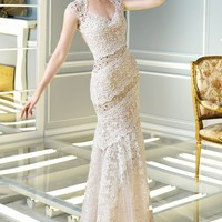 Lace Long Gown by Alyce Claudine Collection