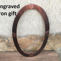 Mirror, hand forged mirror frame, mirror frame, iron anniversary gift, hand forged frame, picture frame, photo frame, iron gift, wall frame