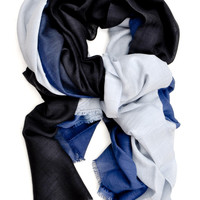 Faded Ombre Wool-Silk Scarf