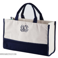 Monogrammed Chevron Tote | Tote Bags | Marley Lilly