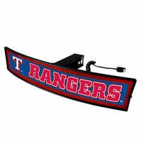 Texas Rangers Light Up Hitch Cover - LED Illuminated Trailer Hitch Cover