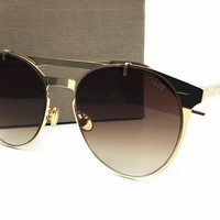 Dior Classic Vintage Round Mirror Brand Designer Sunglasses Metal Lady Circle Retro UV400 Women Or Men  Sun Glasses Rays Victory [2974244563]