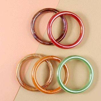 Iridescent Glass Bangle