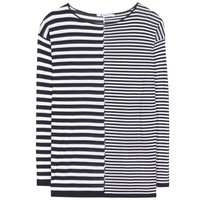 t by alexander wang - cotton-blend striped top