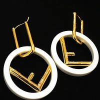Fendi Fashion New Letter Long Earring Accessories Women