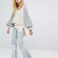 Free People Hideaway Cable Knit Sweater at asos.com