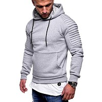 Mens Camouflage Windbreaker Hooded Streetwear