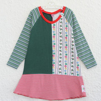 Recycled T Shirt Dress, Girl's Size 3 Upcycled T Shirt Dress, Christmas Themed Toddler Dress, Child's Recycled Christmas T shirt Dress,