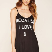 Love U Graphic Cami Nightdress
