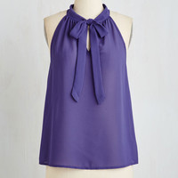 Short Length Sleeveless Your Best Effortlessness Top in Royal Purple