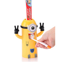 New Cartoon Cute Minions 3 in 1 Multi-function Auto Toothpaste Dispenser and Toothbrush Holder Stand and Tooth Glass