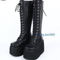 #7008B Kawaii KERA Punk Gothic Sweet DOLLY Lolita BOOTS Goth Shoes 10cm Heels