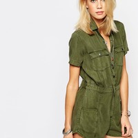 Abercrombie & Fitch Olive Boiler Suit
