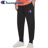 Champion New fashion embroidery logo couple pants Black