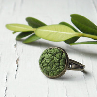 Woodland Moss Ring Fall Fashion Autumn Green by TheWhirlwind