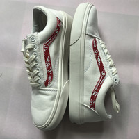 "Trendsetter Vans x ""Supreme x Louis"" Canvas Old Skool Flats Sneakers Sport Shoes"