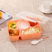 5 in 1 Lunch Bento Box With Soup Bowl and Spoon Food Thermos Heated Container For Adults Children Kitchen Dining Tools