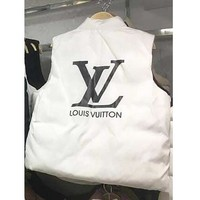 LV Louis Vuitton New Fashionable Women Leisure Vest Waistcoat Cardigan Jacket Coat White