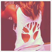 Tree Tank Top Cut Out