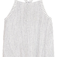 Splendid - Striped slub linen and cotton-blend tank